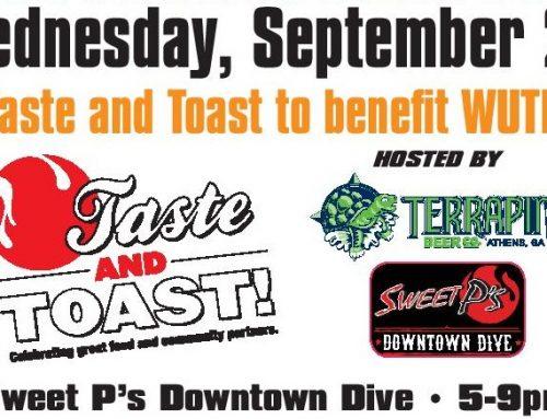 WUTK'S TASTE & TOAST BENEFIT DINNER! Wed 9/26/18 @ Sweet P's BBQ